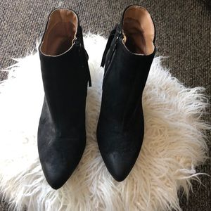 Qupid Black fringe booties brand new size 7